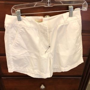 White j crew factory 5 inch shorts size 8 NWT